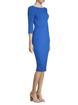 Crepe Boat Neck Dress by Michael Kors Collection