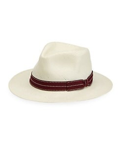1c71ccb1d04 Saks Fifth Avenue. Collection Flat Brim Paper Hat ...