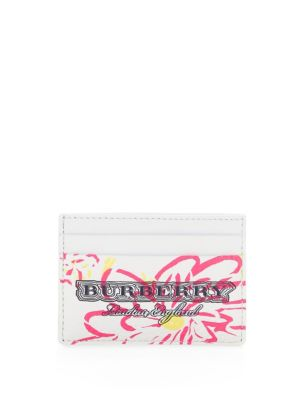 Doodle Spring Leather Card Holder, White