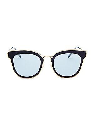 881046f150c Jimmy Choo - 54MM Andie Glitter-Trim Round Sunglasses - saks.com