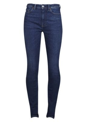 Blå Konst Peg Skinny Jeans in Mid Blue