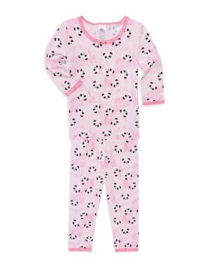 Toddlers Little Girls  Girls Panda Print Pajamas Set