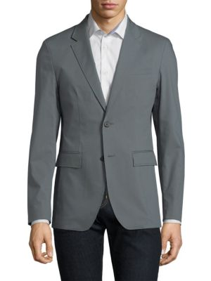 SOLID HOMME Stretch Fitted Blazer in Grey