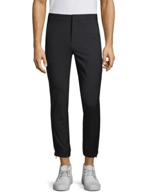 SOLID HOMME Wool Jogger Pants in Black