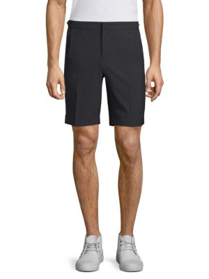 SOLID HOMME Tailored Wool Shorts in Black