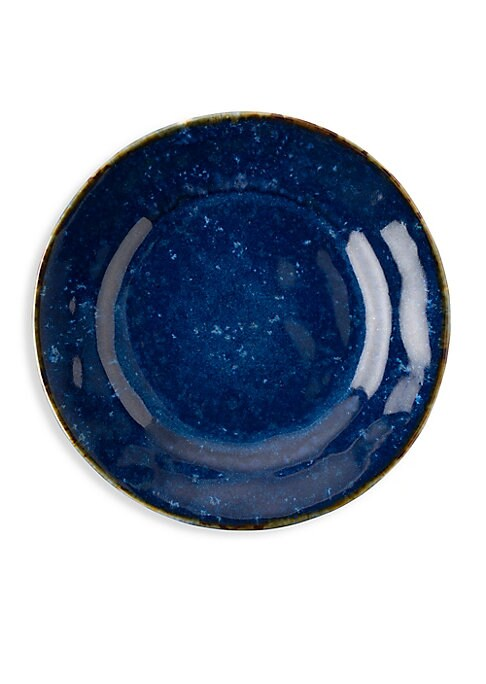 """Image of A little escapism is always sweet and so is any dish when served atop this beautifully breezy plate. From the Puro Collection. Diameter, 9"""".Ceramic stoneware. Dishwasher, freezer, microwave and oven safe. Imported."""