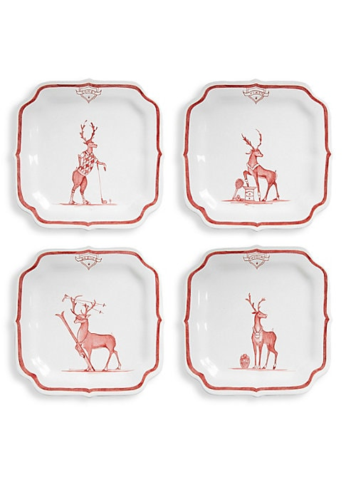 Image of From the Country Estate Reindeer Games Collection. When it comes to the holiday season, we say, let the games begin! And these sporting fellows are your ideal party guests - elegant, dashing, and vividly entertaining - able to triumph in any setting, from