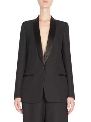 Deconstructed Tuxedo Jacket In Black