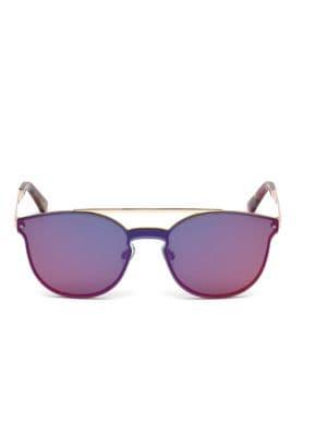 Web Metal Cat Eye Shield Sunglasses