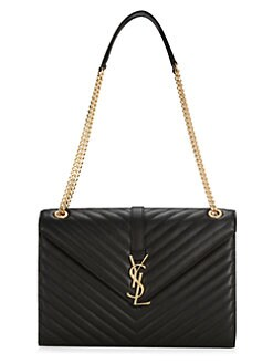7a4fe6aca0e3 Saint Laurent. Monogram Leather Shoulder Bag