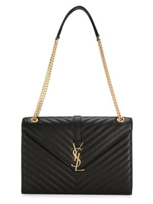 Monogram Leather Shoulder Bag by Saint Laurent