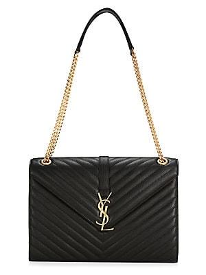 1e0ea2f86d50 Saint Laurent - Large Monogram Matelassé Leather Chain Shoulder Bag ...