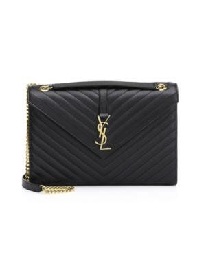 Envelope Leather Shoulder Bag by Saint Laurent