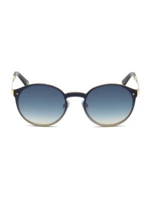 Web 134MM Round Metal Sunglasses