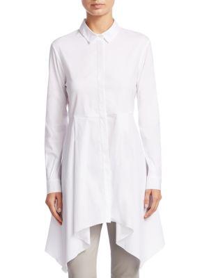 Camicione Con Fondo Dress Shirt, White