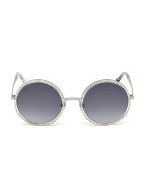 Web Oversized Round Mirror Sunglasses
