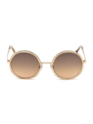 Web Oversized Round Sunglasses