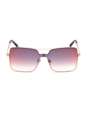 Web 129MM Shield Square Metal Sunglasses