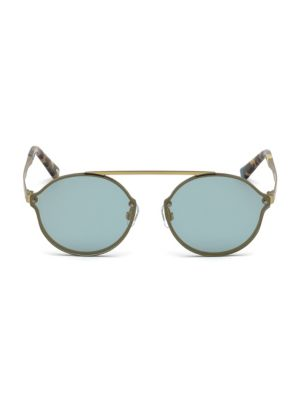Web Round Frame Metal Sunglasses