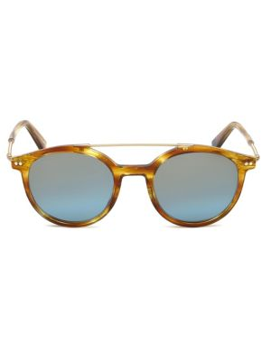 Web Round Tortoise Shell Sunglasses