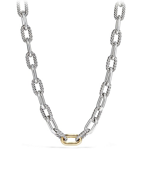 Madison 18K Yellow Gold & Sterling Silver Necklace