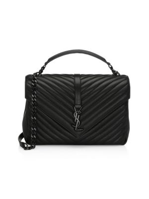 Large College Mate Leather Satchel by Saint Laurent