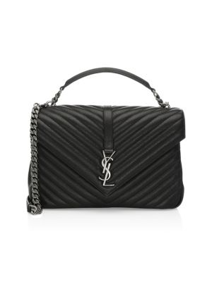 Large College Matelasse Leather Satchel by Saint Laurent