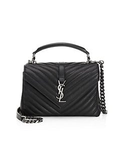 Product image. QUICK VIEW. Saint Laurent. Medium Collège Matelassé Leather  Bag 735b2510746e8