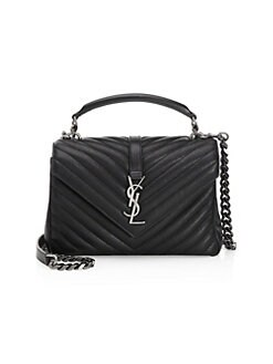 4969eb0223b QUICK VIEW. Saint Laurent. Medium Collège Matelassé Leather Bag
