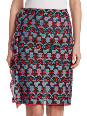 Embroidered Ruffle Skirt by Emporio Armani