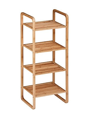 """Image of 4-Tier vertical shelf constructed of durable bamboo 14.6""""L x 12""""W x 36.5""""H Bamboo Imported. Gifts - Decorative Home > Saks Fifth Avenue. Honey-Can-Do."""