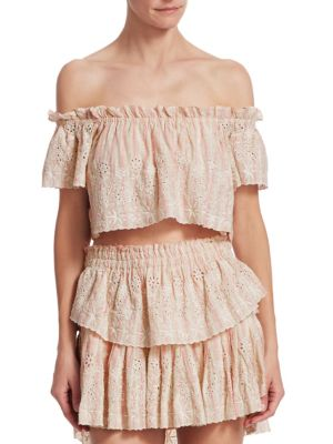 e4aba7b2df LoveShackFancy - Ruffle Eyelet Mini Skirt - saks.com