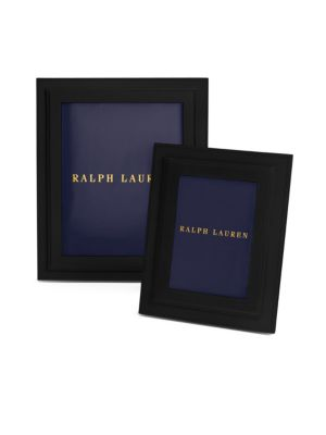 """Image of Inspired by Ralph Lauren's timeless leather accessories, the understated design of this frame emphasizes its finely grained calfskin and hand-stitched details. Leather/brass.9.75""""H X 5.25""""W X 2.5""""D.Wipe clean. Imported."""