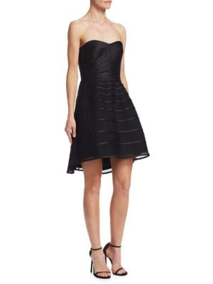 Strapless Fit & Flare Dress by Halston Heritage