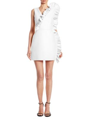 MSGM Dresses V-Neck Ruffle Dress
