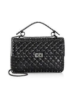 7778073e697 Product image. QUICK VIEW. Valentino Garavani. Large Rockstud Spike Leather  Shoulder Bag
