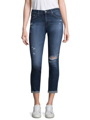 Prima Mid-Rise Skinny Crop Roll-Up Jeans, 08Y Portrait W/ Destruction