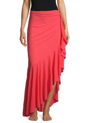 Chiara Boni La Petite Robe Ruffle Wrap Skirt