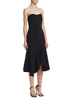 1f58a2b433b QUICK VIEW. Halston Heritage. Strapless Flounce Sheath Dress