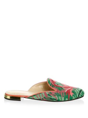 CHARLOTTE OLYMPIA Canvases Bird Canvas Mules