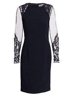 f8b5840dbc7 Product image. QUICK VIEW. Teri Jon by Rickie Freeman. Illusion-Sleeve  Sheath Dress