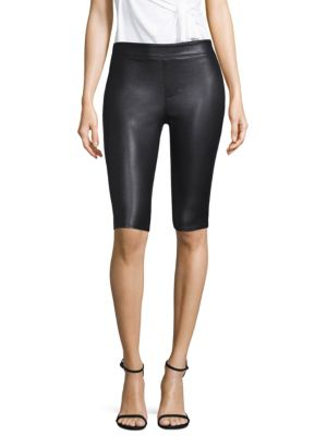 Helmut Lang  Cropped Leather Leggings