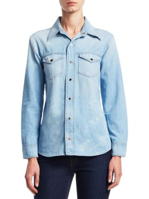 Khaite Cottons Sara Snap Front Shirt