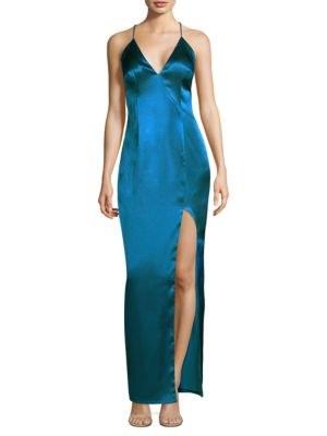 Sleeveless Column Gown by Aidan Mattox