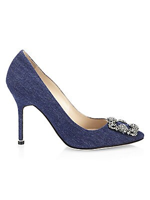 552c066612 Manolo Blahnik - Hangisi 105 Denim Pumps - saks.com