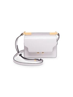 Trunk Micro Leather Shoulder Bag in White