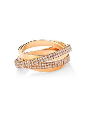 Repossi Berbere 18K Rose Gold & Pavé Diamond Ring