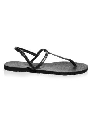 HAVAIANAS You Riviera T-Strap Sandals in New Black