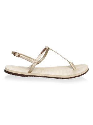 HAVAIANAS You Riviera T-Strap Sandals in Sand Grey