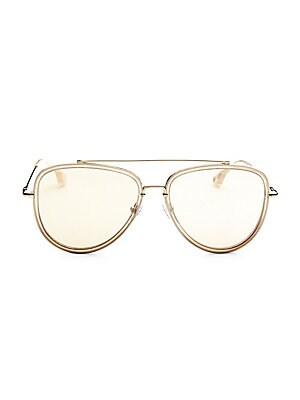 86f7c80265 Alice + Olivia - Stacey Round Black Sunglasses - saks.com